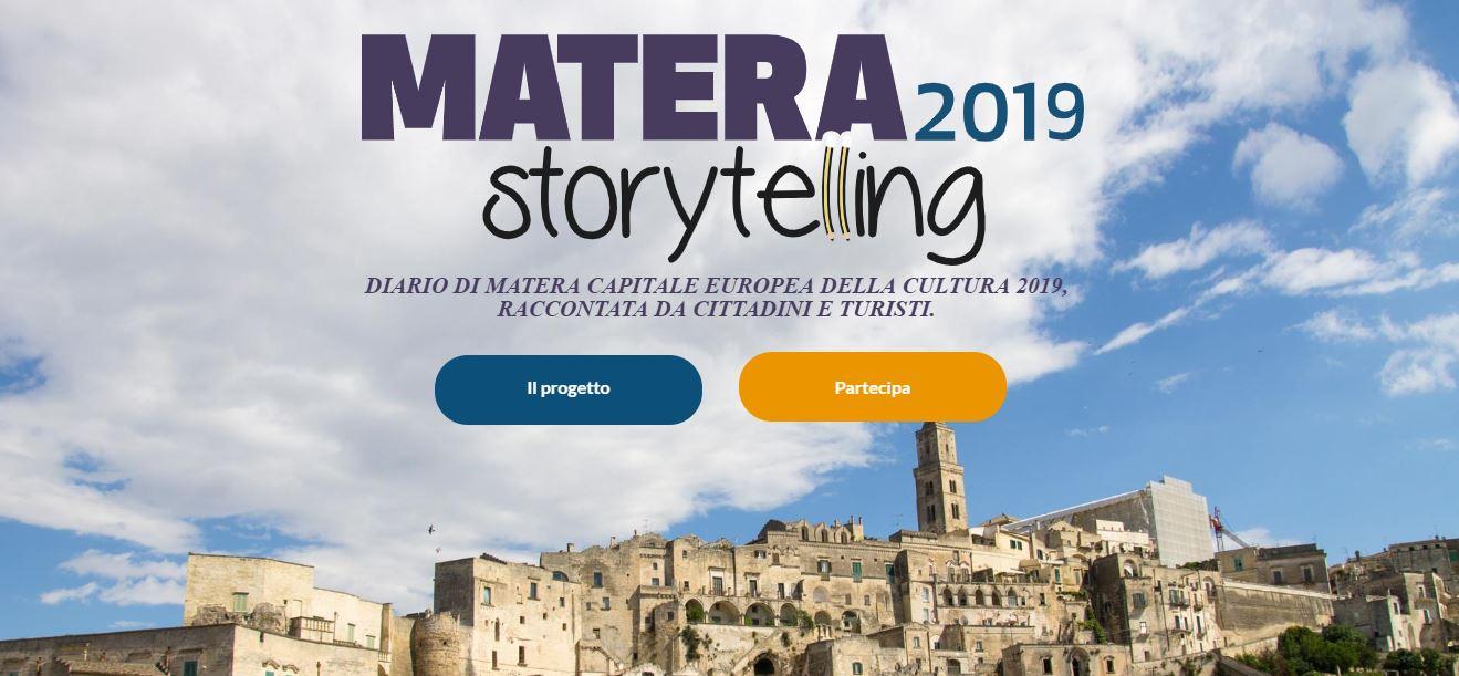 """""""Matera 2019 Storytelling""""."""